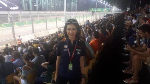 Salah satu penggemar Red Bull Racing (Foto: Okezone/Ramdani Bur)
