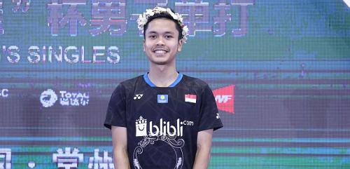 Anthony Sinisuka Ginting saat juara China Open 2018
