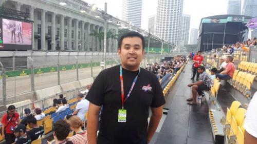 Akbar Rais diundang STB untuk menyaksikan Grand Prix Season Formula One (Foto: Okezone/Ramdani Bur)