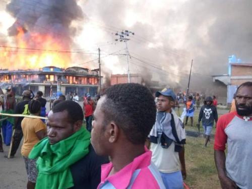 Demo di Wamena, Papua (foto: Ist)