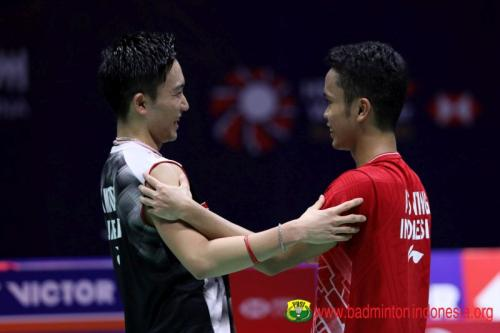 Anthony Ginting vs Kento Momota