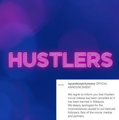 Lembaga Sensor Film Malaysia resmi mencekal Hustlers untuk tayang di negara tersebut. (Foto: Instagram/@squareboxpicturesmy)