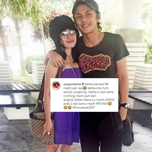 Ussy Sulistiawaty unggah foto lawas bersama suami. (Foto: Instagram/@ussypratama)