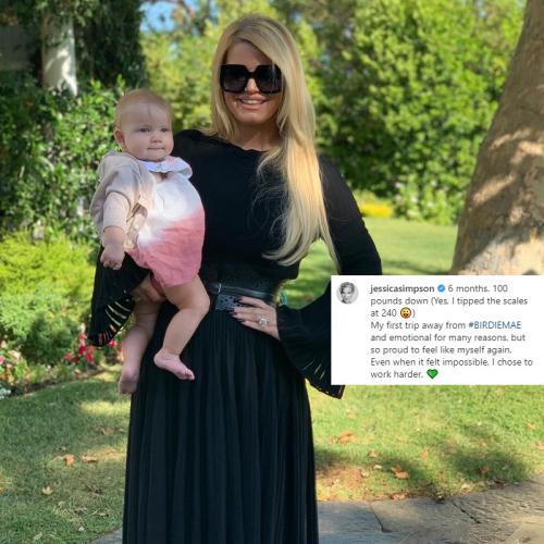Jessica Simpson mengaku berat bedannya turun 45 kilogram setelah melahirkan. (Foto: Instagram/@jessicasimpson)