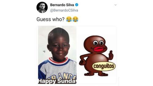 Twit Bernardo Silva yang kini telah dihapus