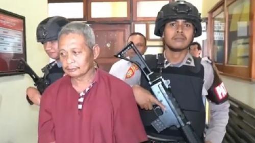 Pelaku pencabulan anak di Wakatobi Sultra. (Foto : iNews.id/Andhy Eba)