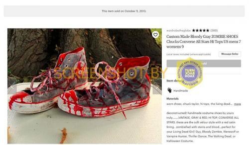 Sepatu darah ternyata dijual tahun 2013