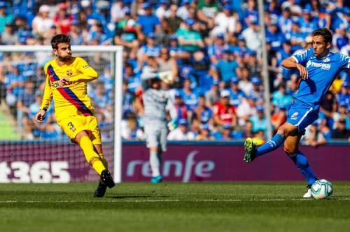 Suasana laga Getafe vs Barcelona
