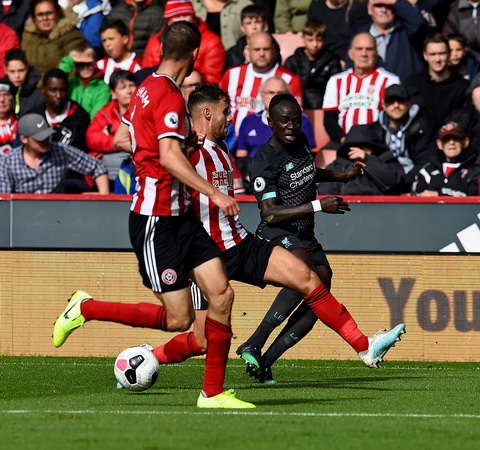 Sadio Mane vs Sheffield United (Foto: Twitter/@LFC)