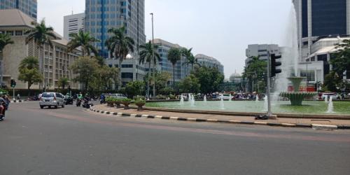 Kawasan Patung Kuda, Monas, Jakarta Pusat. (Foto: Dok Okezone/Muhamad Rizky)