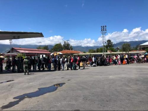 Warga mengungsi imbas kerusuhan di Wamena. (Dok Okezone)