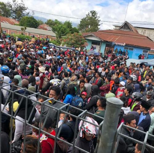 Pengungsi Wamena.