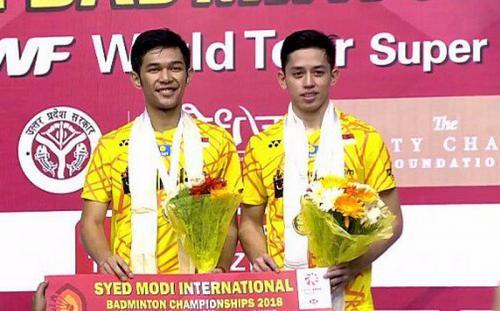Fajar Alfian/Muhammad Rian Ardianto juara Syed Modi International 2018
