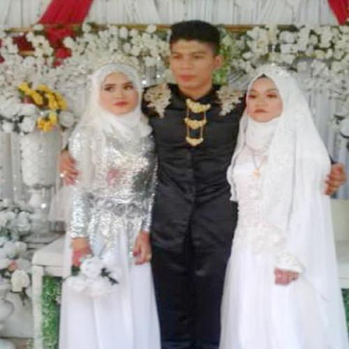 Perkawinan antaran seorang pria dan dua wanita terjadi di Malaysia