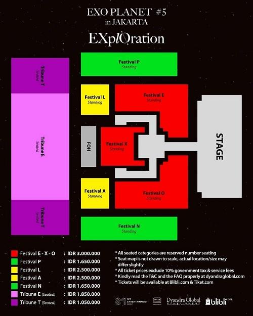 Tiket konser exo