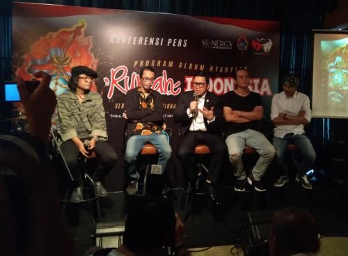 Pay BIP akan merilis album 'Nyanyian Rumah Indonesia' khusus untuk generasi millennial. (Foto: Okezone/Ady Prawira Riandi)