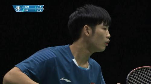 Sun Feixiang menjadi pemain ke-11 asal China yang berstatus kampiun tunggal putra (Foto: Youtube)