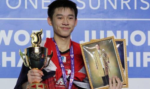 Kunlavut Vitidsarn adalah juara bertahan Kejuaraan Dunia Bulu Tangkis Junior 2019 (Foto: Fox Sports Asia)
