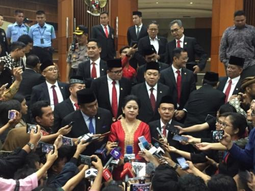 Pimpinan DPR Periode 2019-2024 Usai Dilantik (foto: Okezone/Harits TA)