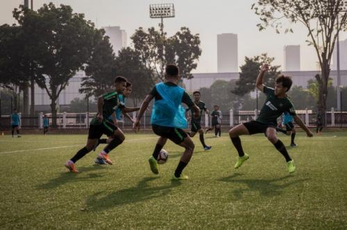 Timnas Indonesia U-23 bersiap menghadapi Iran (Foto: PSSI)