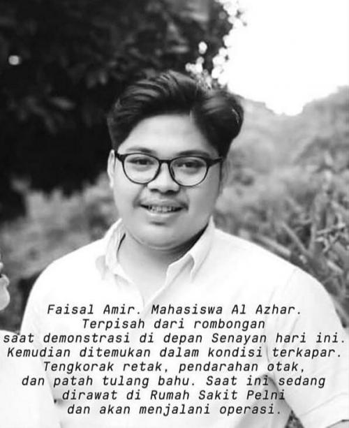 Faisal Amir, Mahasiswa Universitas Al-Azhar Indonesia (UAI) (foto: Ist)