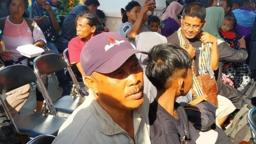 Widodo, Pengungsi Akibat Kerusuhan Wamena Asal Blitar Jawa Timur di Lanud Abdul Rachman Saleh, Malang (foto: Okezone/Avirista M)