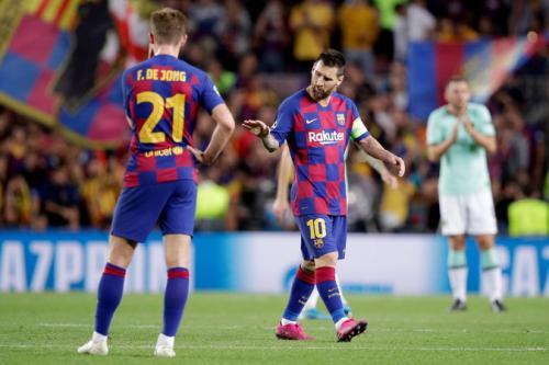 Frenkie De Jong dan Leo Messi