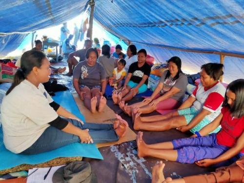 Pengungsi gempa di Maluku Foto: BNPB