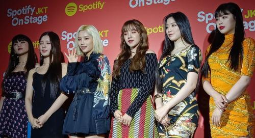 (G)I-DLE menjadi pembuka panggung Spotify Onstage JKT 2019. (Foto: Instagram/@spotifyasia)
