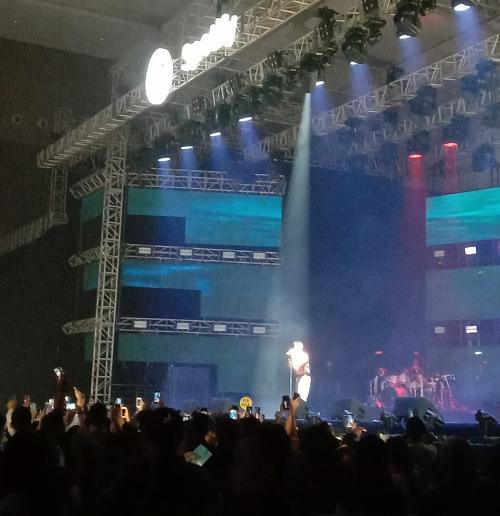 Penampilan Rich Brian dalam ajang Spotify On Stage JKT 2019 di JI Expo Kemayoran, Jakarta Pusat, pada Jumat malam (4/10/2019). (Foto: Okezone/Lintang Tribuana)