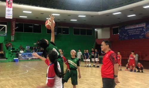 Pembukaan Indonesia Muda Basketball Open Tournament 2019. (Foto: Okezone/Djanti Virantika)