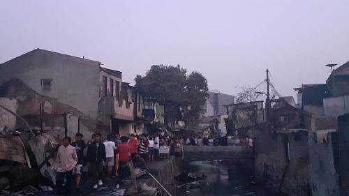 18 rumah di Tamansari kebakaran (Foto : Okezone/Sarah)
