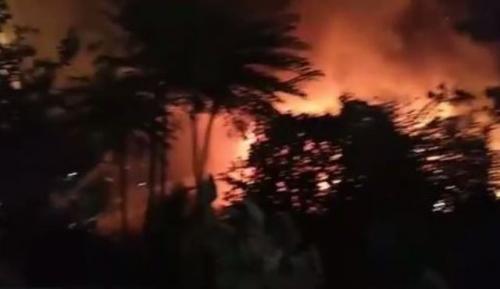 Permukiman Penduduk di Cawang Terbakar