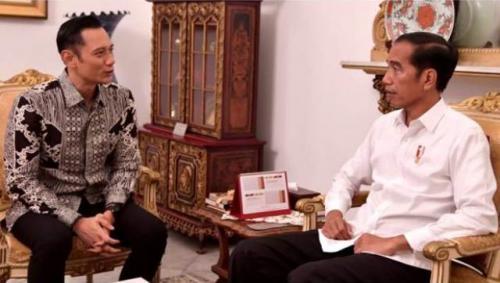 AHY bertemu Jokowi di Istana Merdeka. (Foto: Ist)