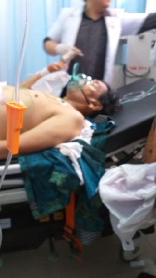 Wiranto ditusuk saat menyambangi Pandeglang (Foto : istimewa)