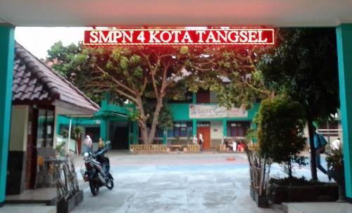 SMPN 4 Tangsel (foto: Okezone/Hambali)