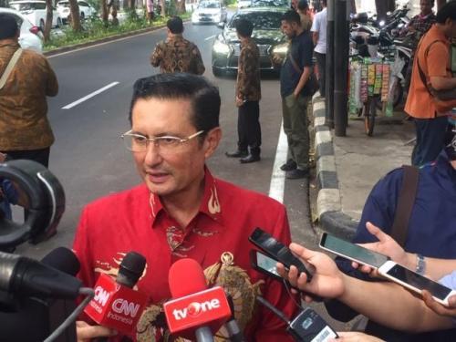 Wakil Ketua MPR Fadel Muhammad di rumah Megawati Soekarnoputri. (Foto: Harits Tryan Akhmad/Okezone)