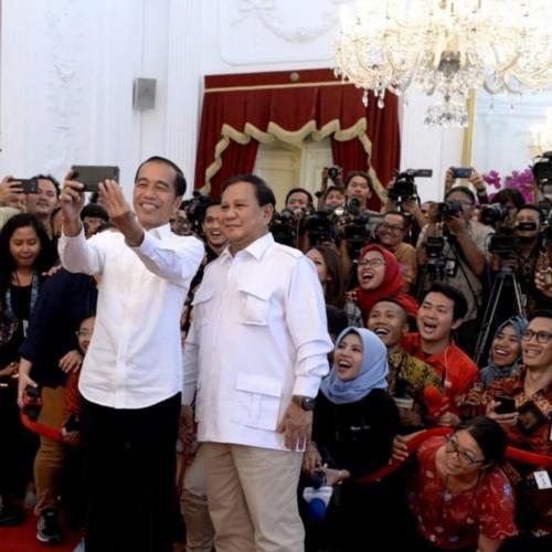 Jokowi-Prabowo bertemu di Istana Merdeka. (Ist)