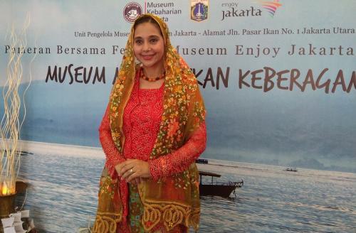 Ayu Azhari mengaku kerap mengajak anak-anaknya untuk menyambangi museum. (Foto: Okezone/Ady Prawira Riandi)