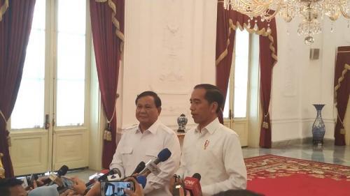 Prabowo bertemu Jokow di Istana (Foto : Okezone.com/Fakhri)