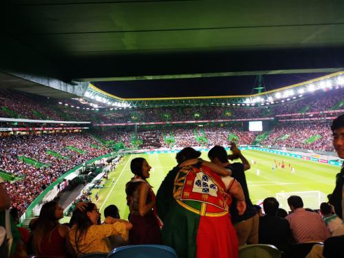 Suasana laga Portugal vs Luksemburg di markas Sporting Lisbon