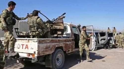 Jatuh korban dari pihak Angkatan Bersenjata Pembebasan Suriah pro-Turki. (BBC Indonesia)