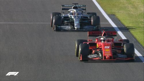 Sebastian Vettel vs Lewis Hamilton (Foto: Twitter/@F1)