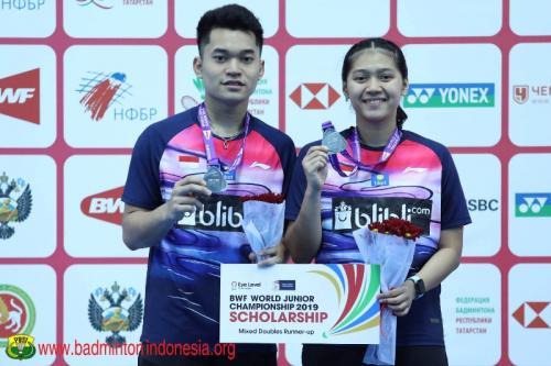 Leo/Indah runner-up Kejuaraan Dunia Bulu Tangkis Junior 2019