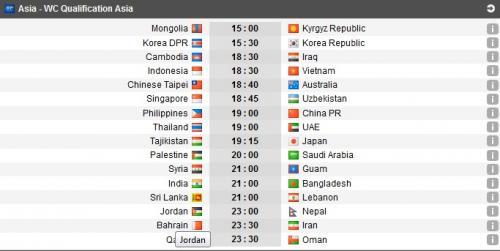 Jadwal Piala Asia