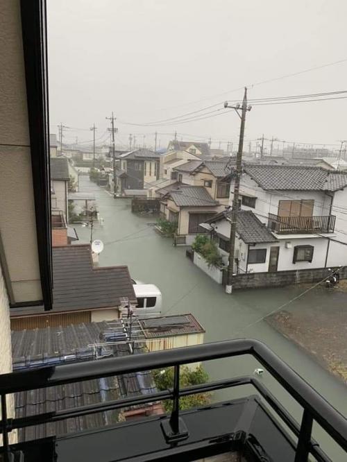 Banjir di Jepang being