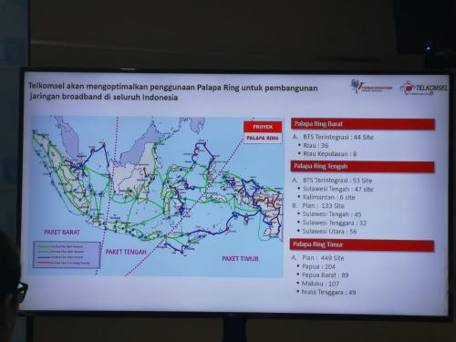 Palapa Ring diharapkan mampu menghilangkan kesenjangan sinyal di wilayah timur Indonesia.