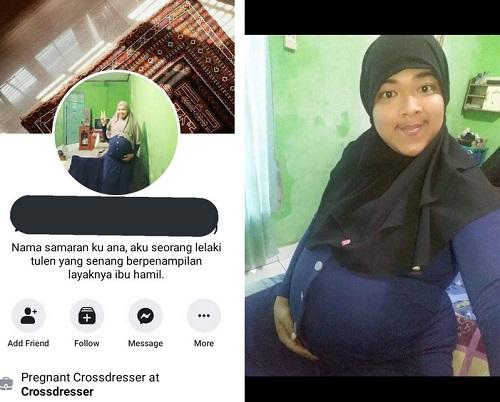 Pregnant crossdresser