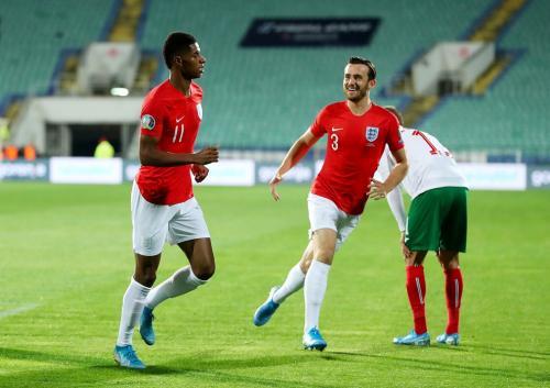 Marcus Rashford dan rekan setimnya (Foto: UEFA)