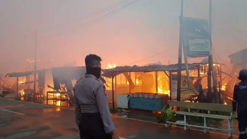Kerusuhan di Penajam Paser Utara Foto: Ist
